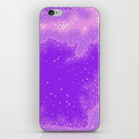Purple Nebula (8bit) iPhone & iPod Skin