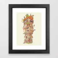 Traveling Circus Framed Art Print