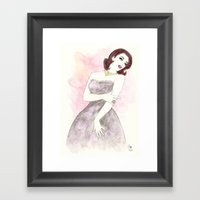 'Scarlett' Watercolor Fa… Framed Art Print