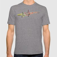 Crocodile Green Mens Fitted Tee Tri-Grey SMALL