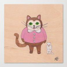 Two Kitties Canvas Print
