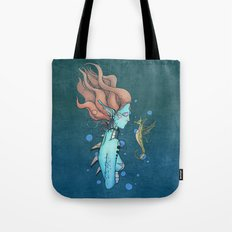 Deep Within The Ocean Sea Tote Bag