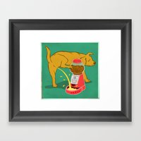 Not Anymore Framed Art Print