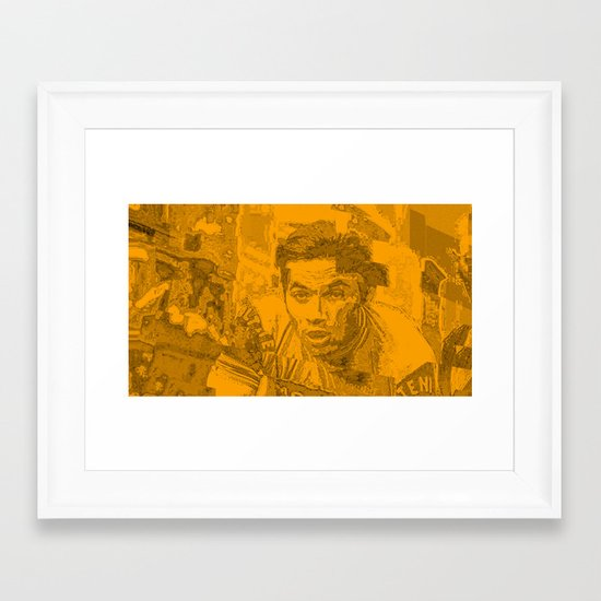 Eddy Merckx Portrait Framed Art Print