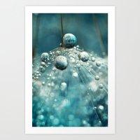 Midnight Blue Dandy Rain Art Print