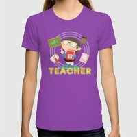 Teacher Womens Fitted Tee Ultraviolet SMALL
