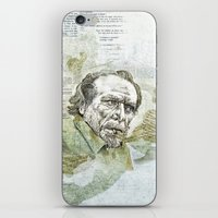 Charles Bukowski iPhone & iPod Skin