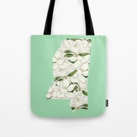 Mississippi in Flowers Tote Bag