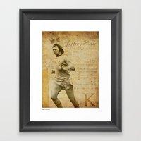The King - Jeff Astle Framed Art Print
