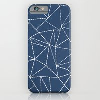 Ab Dotted Lines Navy iPhone 6 Slim Case