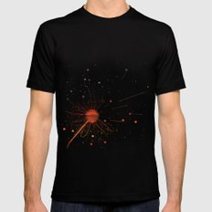 RISE OF DANDELION SMALL Mens Fitted Tee Black