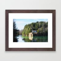 Cabin on the Lake Framed Art Print