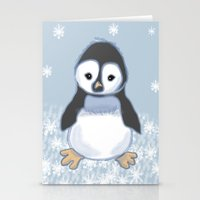 Frosty Pinguin Stationery Cards