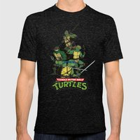 TMNT Mens Fitted Tee Tri-Black SMALL
