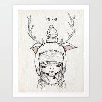 YOU + ME Art Print