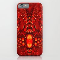 iPhone Cases featuring Red Copper Gems - Seamless by Bella Mahri
