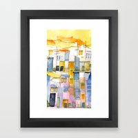 Morning In The Village 1 Framed Art Print