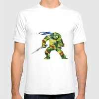 Katana Turtle Mens Fitted Tee White SMALL