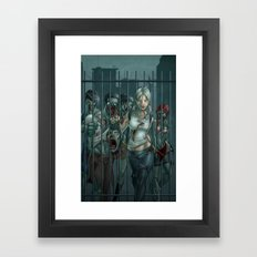 Zombie Slayer Framed Art Print