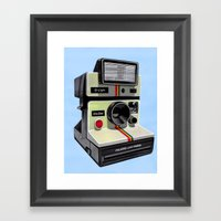 Polaroid. Framed Art Print