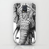 Galaxy S5 Cases featuring Ornate Elephant by BIOWORKZ