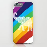 Rainbow With Floral Elep… iPhone 6 Slim Case