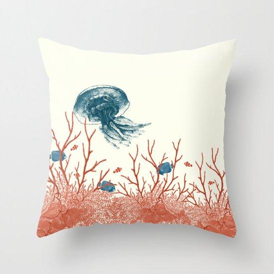 Aquatic Pattern Throw Pillow