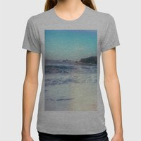 California Sunshine Wave… Womens Fitted Tee Athletic Grey SMALL