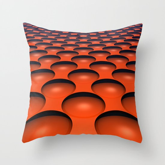 Orange Dimples Throw Pillow