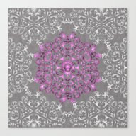 Mandala Pattern With Gli… Canvas Print