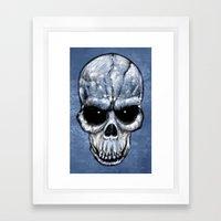 Skull Gaze Framed Art Print