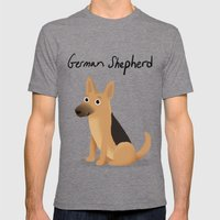 German Shepherd - Cute Dog Series Mens Fitted Tee Tri-Grey SMALL