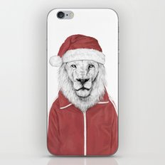 Santa lion iPhone & iPod Skin