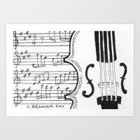 Violin Song Art Print