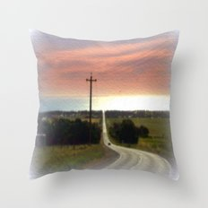 Road to Jervis Bay Throw Pillow