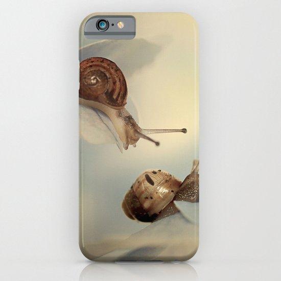 Snails on hydrangea iPhone & iPod Case