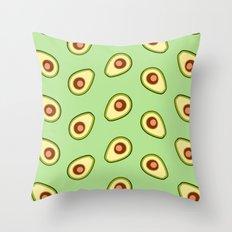 Avocado pattern Throw Pillow