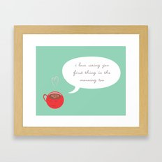 A Love Affair (With Coffee) Framed Art Print