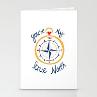 You're My True North Stationery Cards