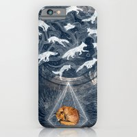 orange iPhone & iPod Cases featuring GHOSTS  by Sandra Dieckmann