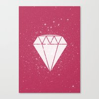 Space Diamond  Canvas Print