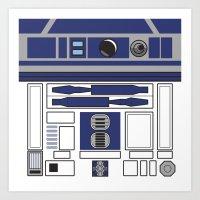 R2D2 - Starwars Art Print