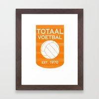 totaal voetbal est. 1970 Framed Art Print