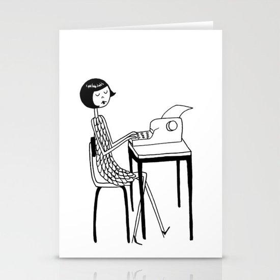 Typewriter Stationery Card