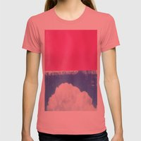 SKY/PNK Womens Fitted Tee Pomegranate SMALL