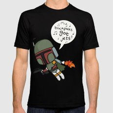 boba Black Mens Fitted Tee SMALL