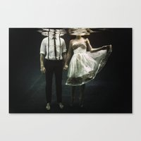 abyss of the disheartened : IV Canvas Print