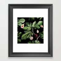Figs Black Framed Art Print