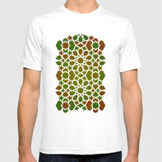 Red & Green Mens Fitted Tee White SMALL