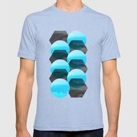 Clonixina Mens Fitted Tee Tri-Blue SMALL